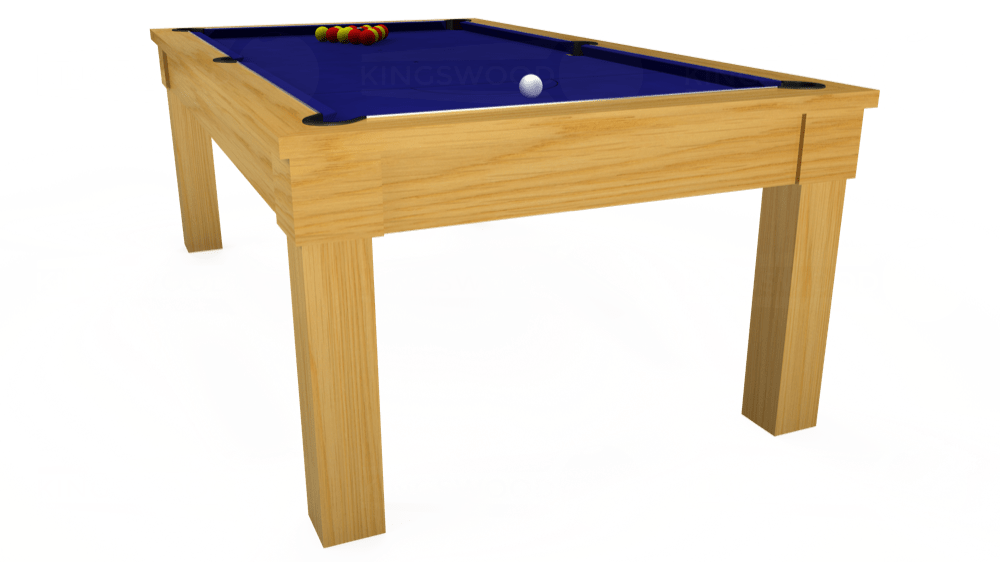 7ft Kingswood Oak Pool Dining Table in Oak with Hainsworth Smart Royal Blue cloth delivered and installed - £1,800.00