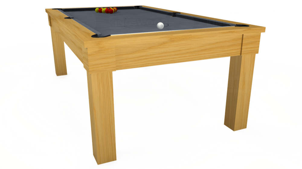 7ft Kingswood Oak Pool Dining Table in Oak with Hainsworth Smart Silver cloth delivered and installed - £1,800.00