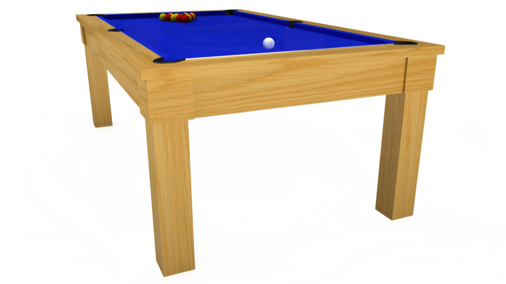 7ft Kingswood Oak Pool Dining Table in Oak with Standard Blue cloth delivered and installed - £1,800.00