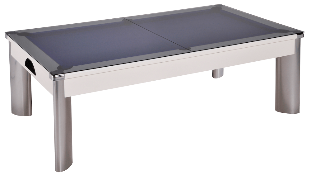7ft Fusion Outdoor Pool Dining Table in White with Hainsworth Elite-Pro Olive cloth delivered and installed - £1,660.00